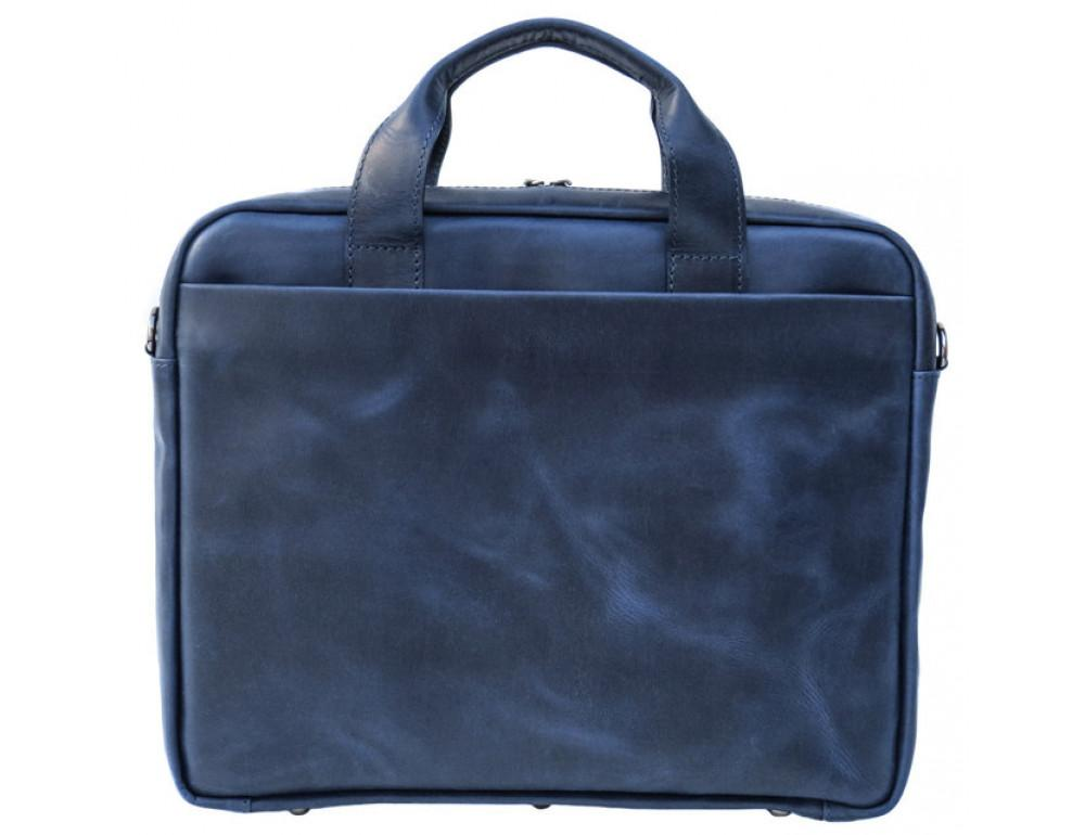 Мужская кожаная сумка Black Diamond BD25D-2 синяя - Фото № 3