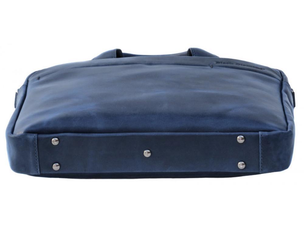 Мужская кожаная сумка Black Diamond BD25D-2 синяя - Фото № 5