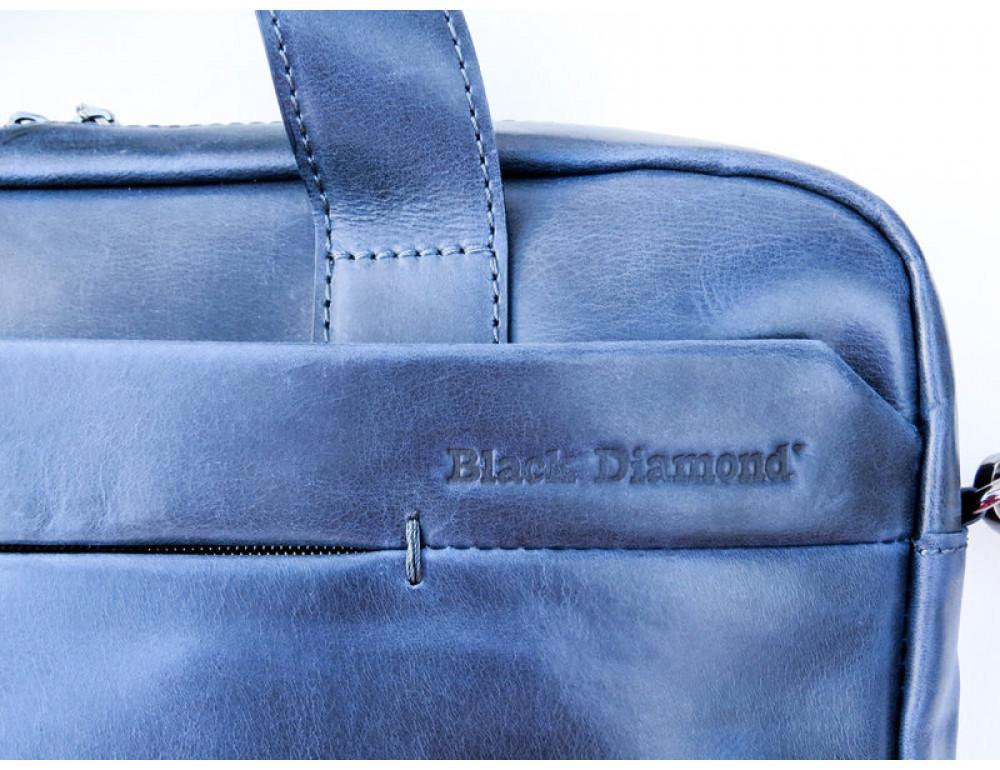Мужская кожаная сумка Black Diamond BD25D-2 синяя - Фото № 7