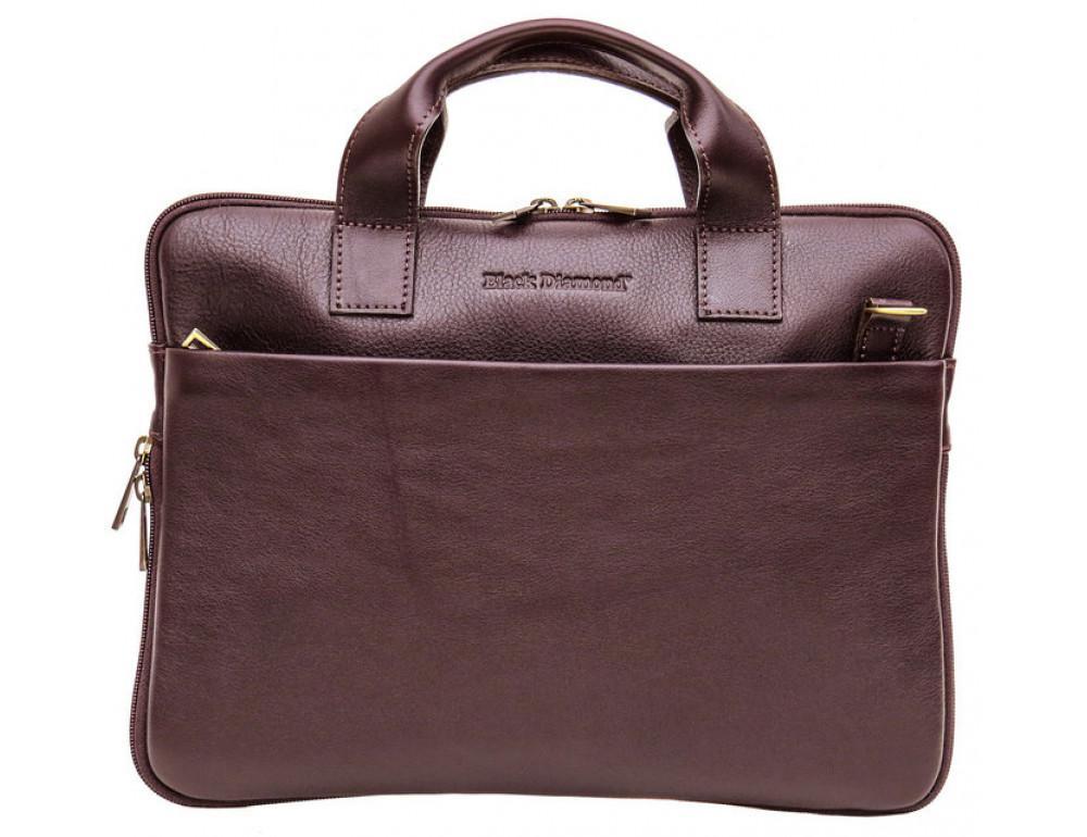 Мужская кожаная сумка под macbook Black Diamond BD27C - Фото № 2