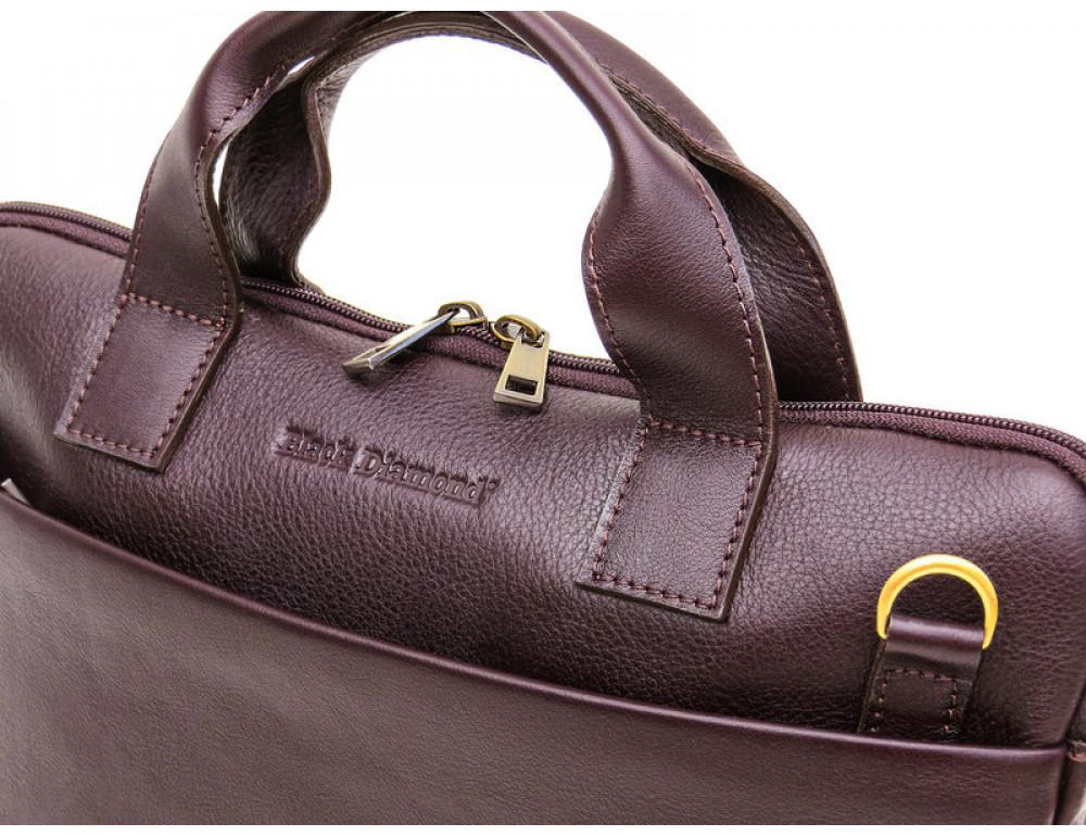 Мужская кожаная сумка под macbook Black Diamond BD27C - Фото № 6