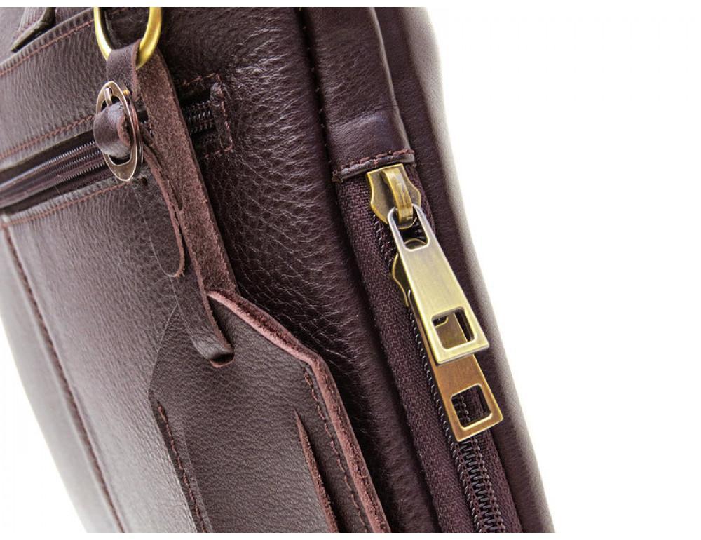 Мужская кожаная сумка под macbook Black Diamond BD27C - Фото № 7
