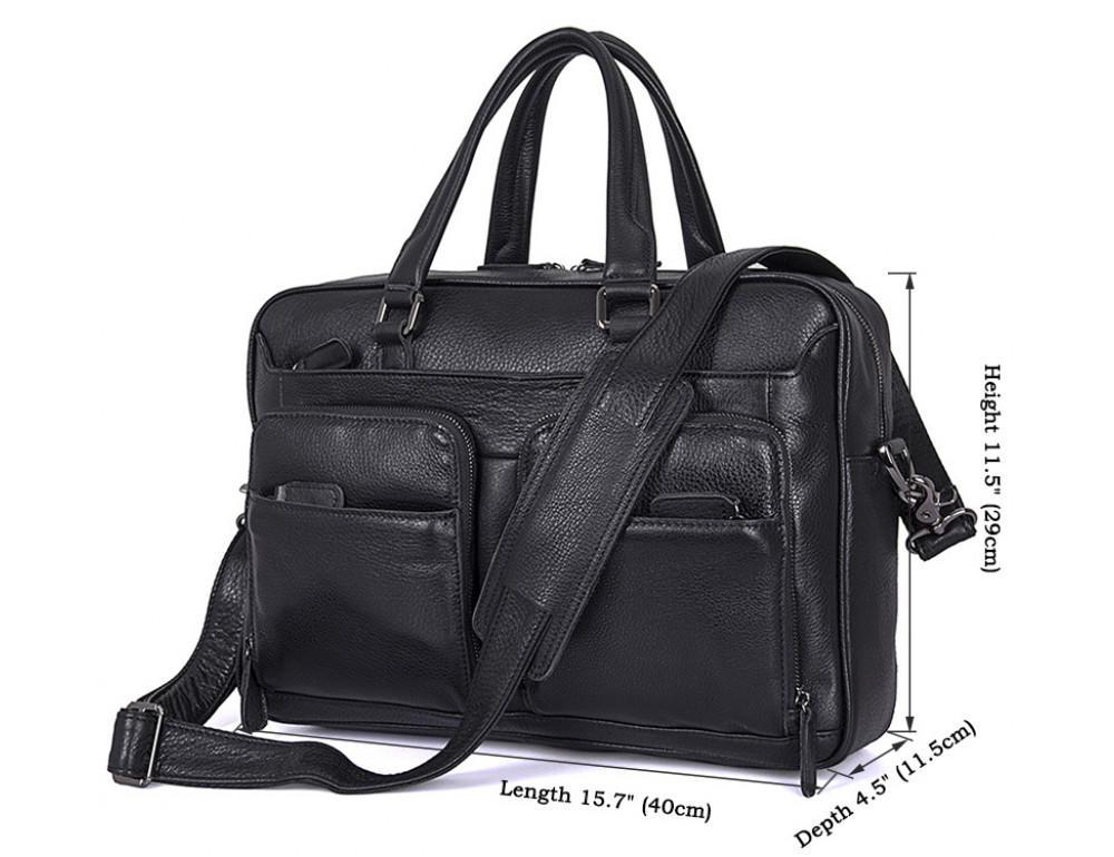 Кожаная сумка S.J.D. 7373A - Фотографія № 4