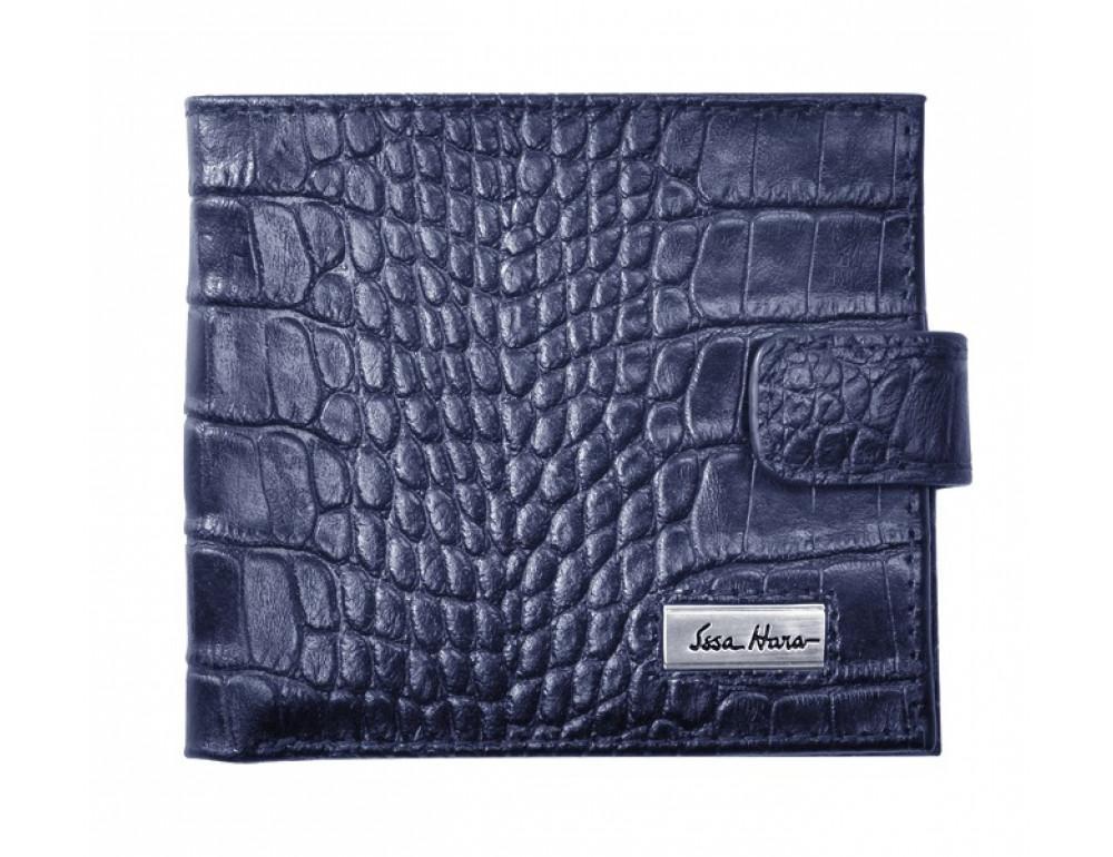 Мужской кожаный портмоне Issa Hara Croco WB1-1 (23-00)
