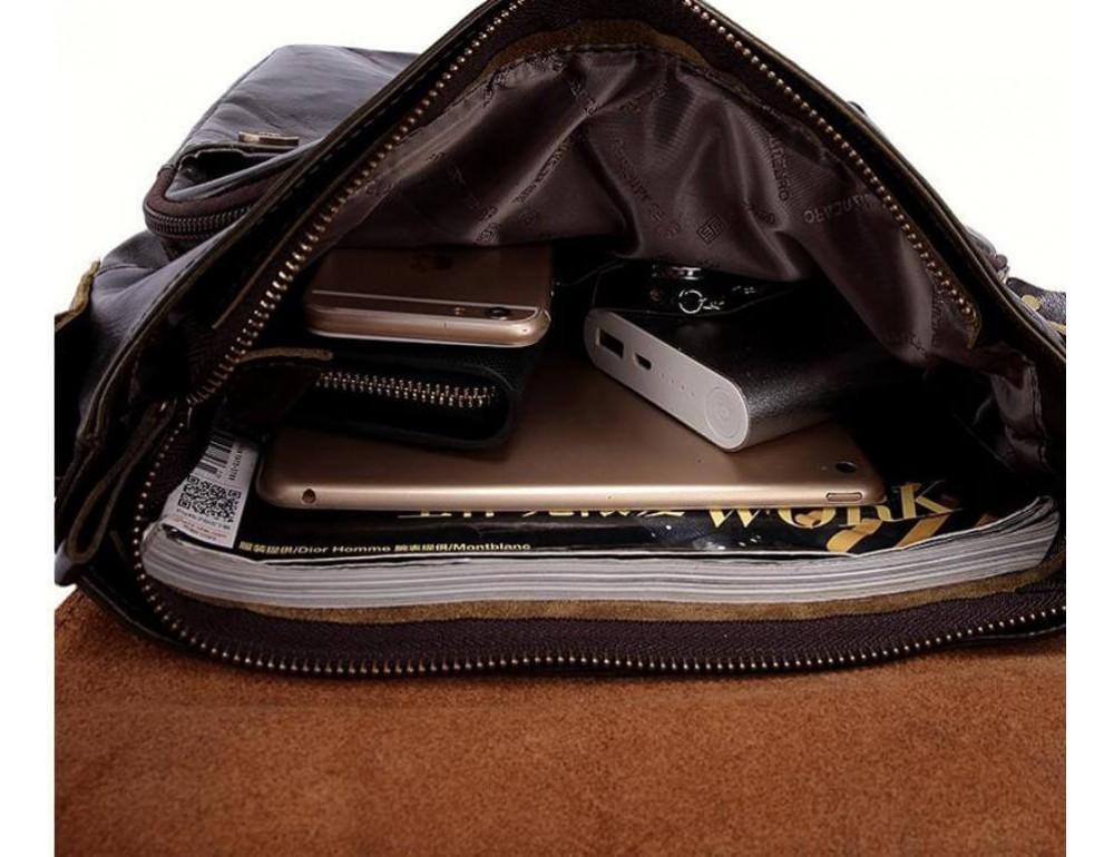 Кожаная сумка через плечо BEXHILL BX1292DB - Фото № 3