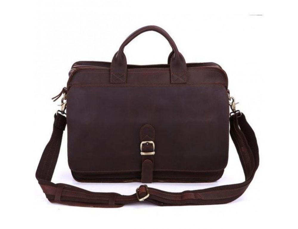 Мужская кожаная сумка TIDING BAG 6020 - Фото № 3