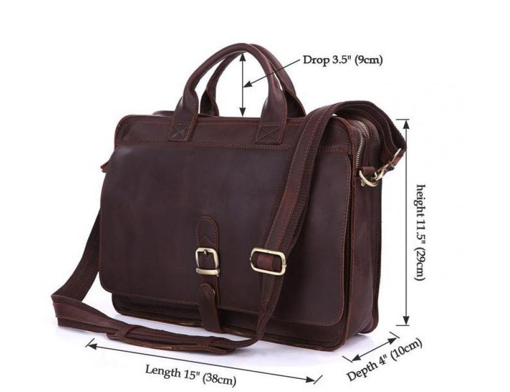 Мужская кожаная сумка TIDING BAG 6020 - Фото № 4