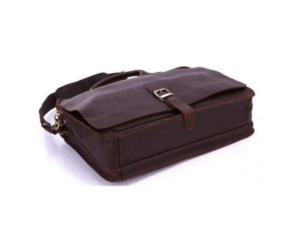 Мужская кожаная сумка TIDING BAG 6020 - Фото № 5