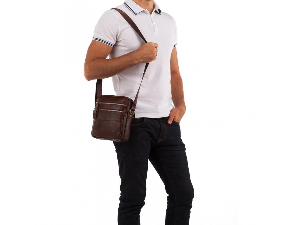 Мужская сумка-мессенджер из кожи TIDING BAG M38-3923C - Фото № 2