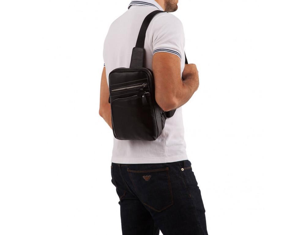 Мужской кожаный мессенджер TIDING BAG A25-6896A - Фото № 3