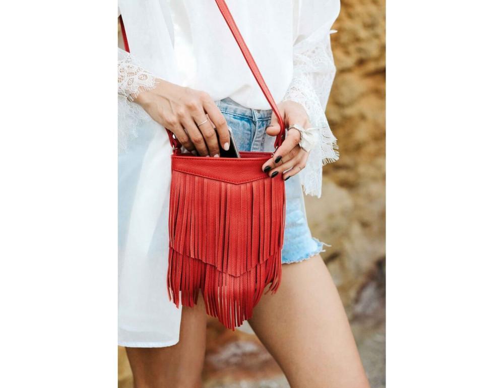 Женская мини сумка Blanknote BN-BAG-16-rubin - Фото № 2