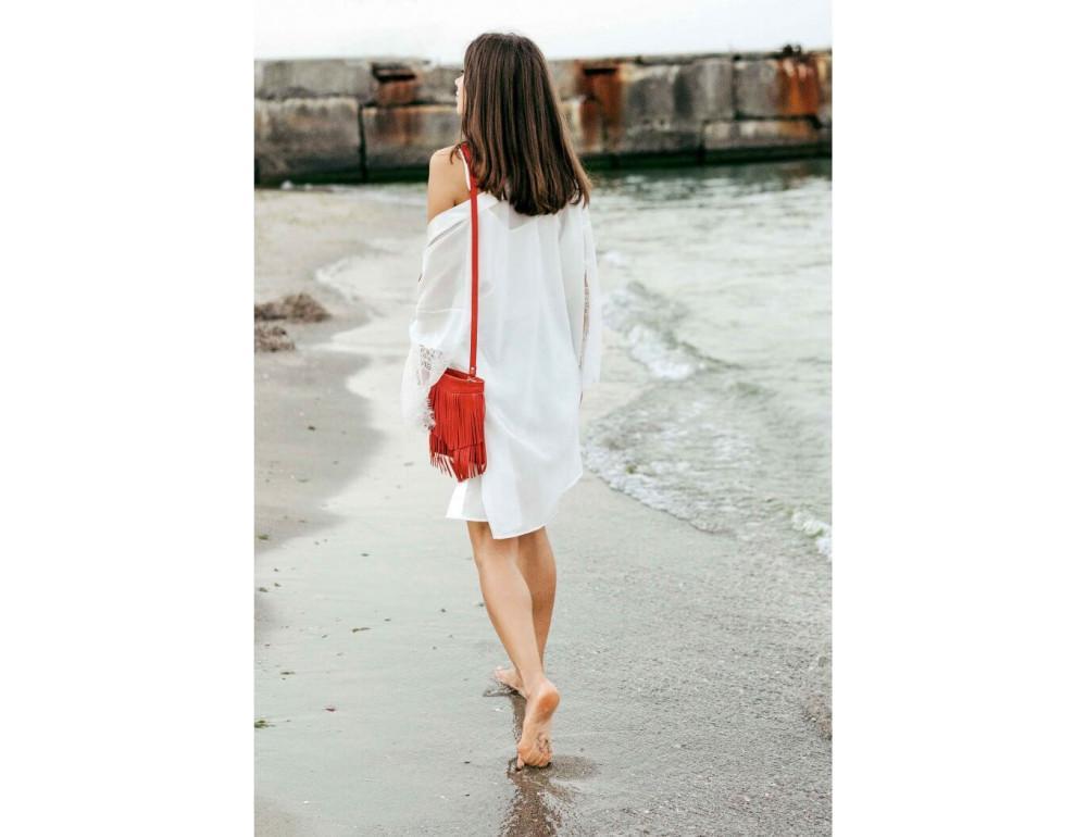 Женская мини сумка Blanknote BN-BAG-16-rubin - Фото № 4