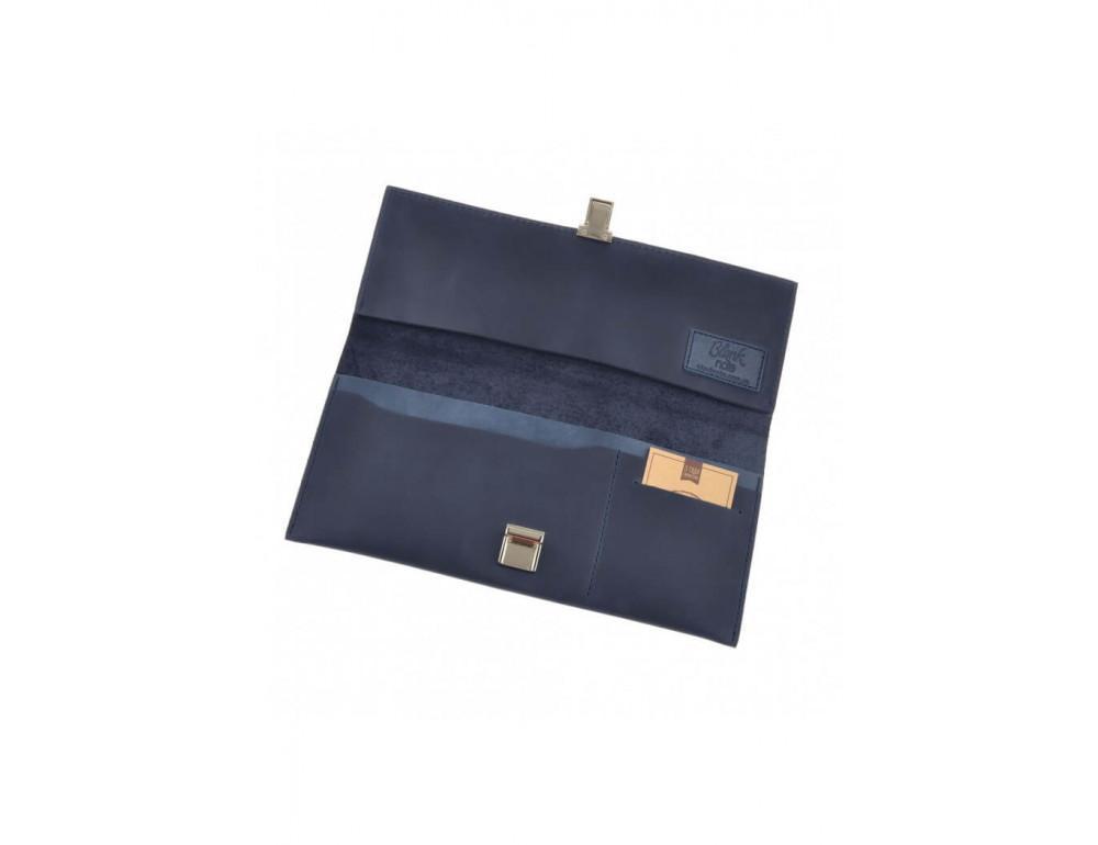 Кожаный травел-кейс синего цвета Blanknote BN-TK-2-nn - Фото № 5