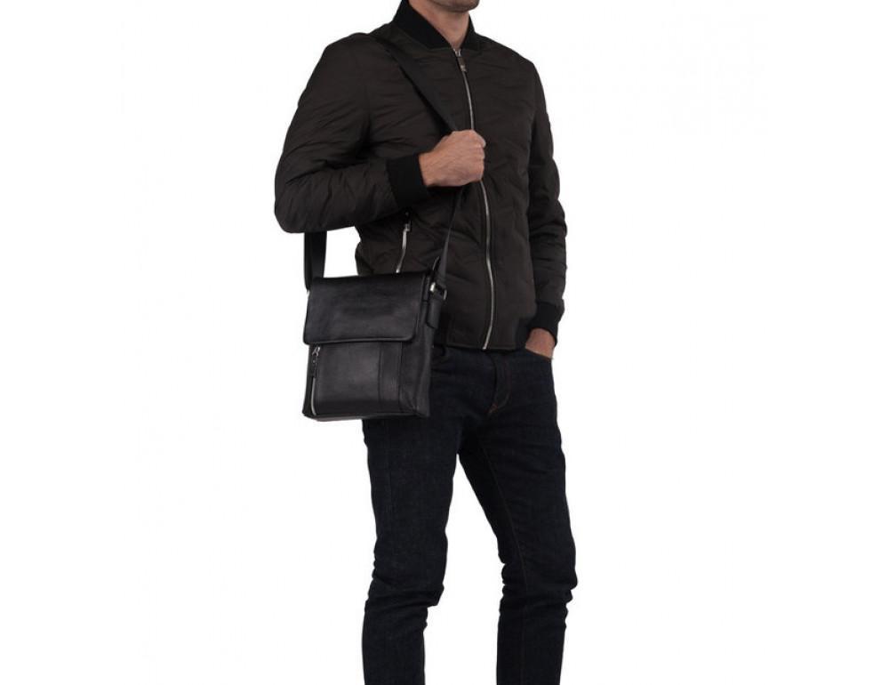 Мужская кожаная сумка мессенджер TIDING BAG M1001-1A - Фото № 5