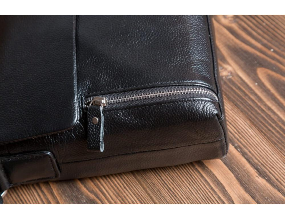 Мужская кожаная сумка мессенджер TIDING BAG M1001-1A - Фото № 6