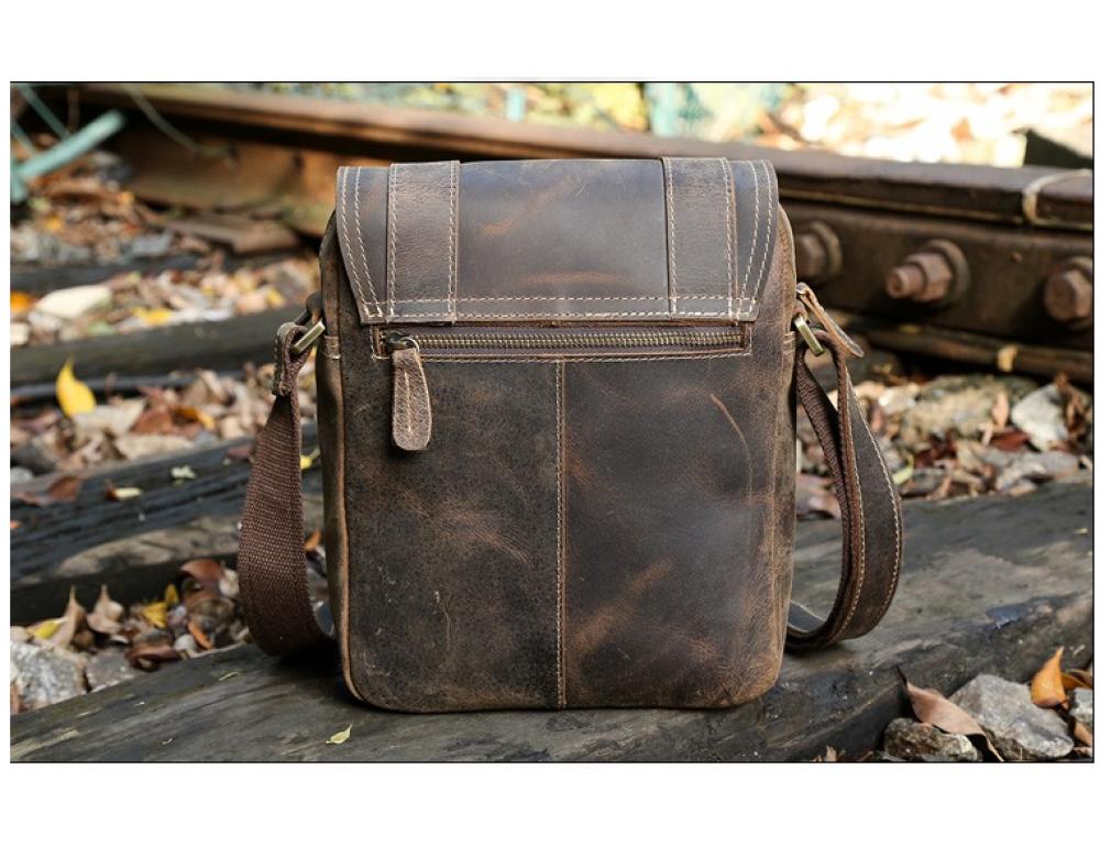 Мужской кожаный мессенджер TIDING BAG T1172 - Фото № 3