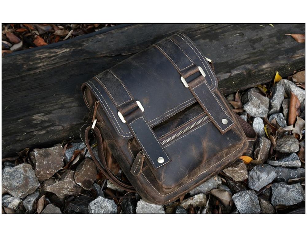 Мужской кожаный мессенджер TIDING BAG T1172 - Фото № 4
