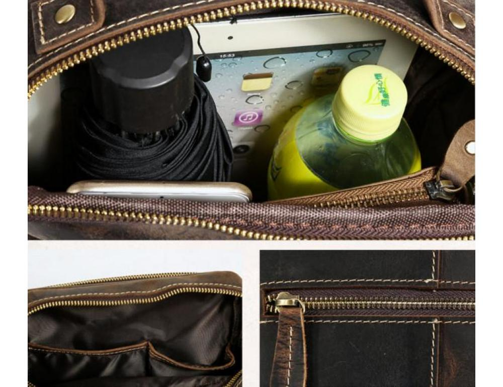 Кожаная барсетка TIDING BAG T1171 - Фото № 7