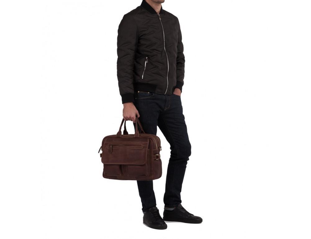 Мужская кожаная сумка TIDING BAG T29523B - Фото № 2