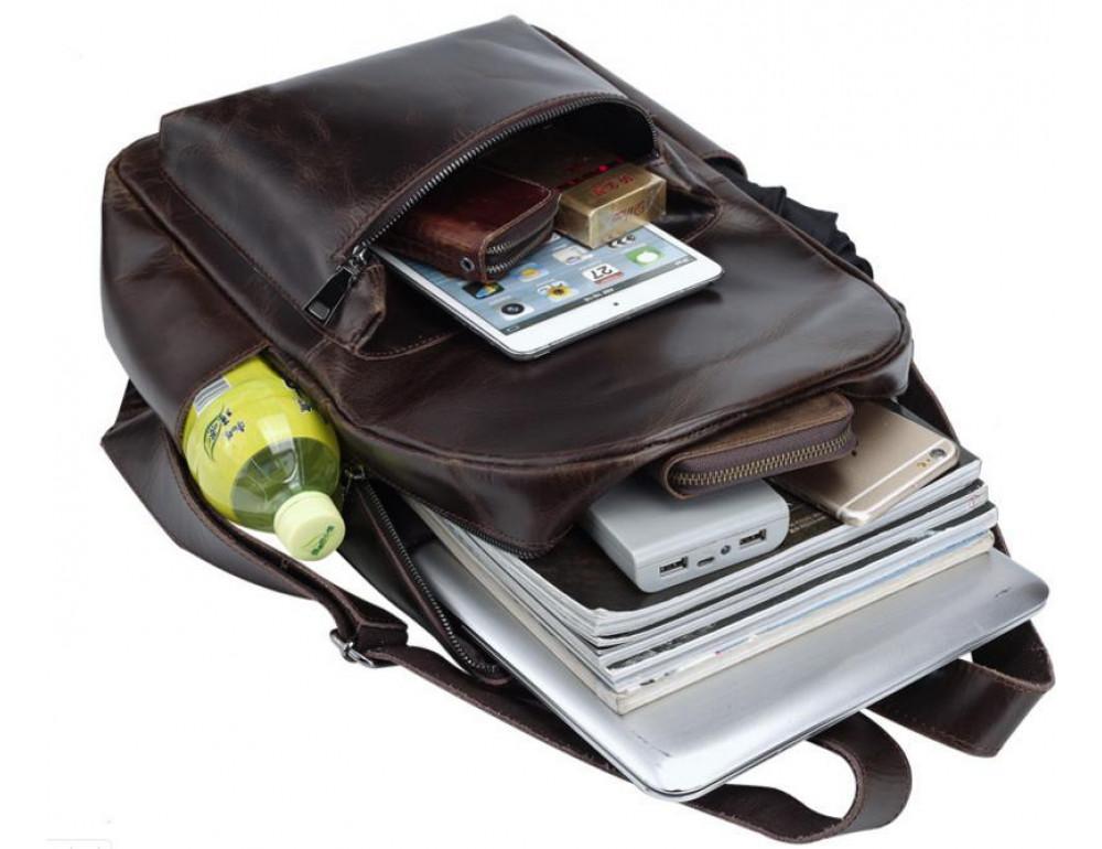 Мужской кожаный рюкзак TIDING BAG T3158 - Фото № 3