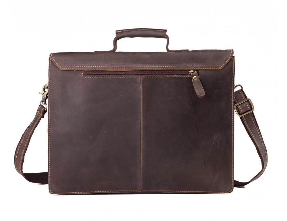 Мужской кожаный винтажный портфель TIDING BAG GA2095R коричневый - Фото № 3
