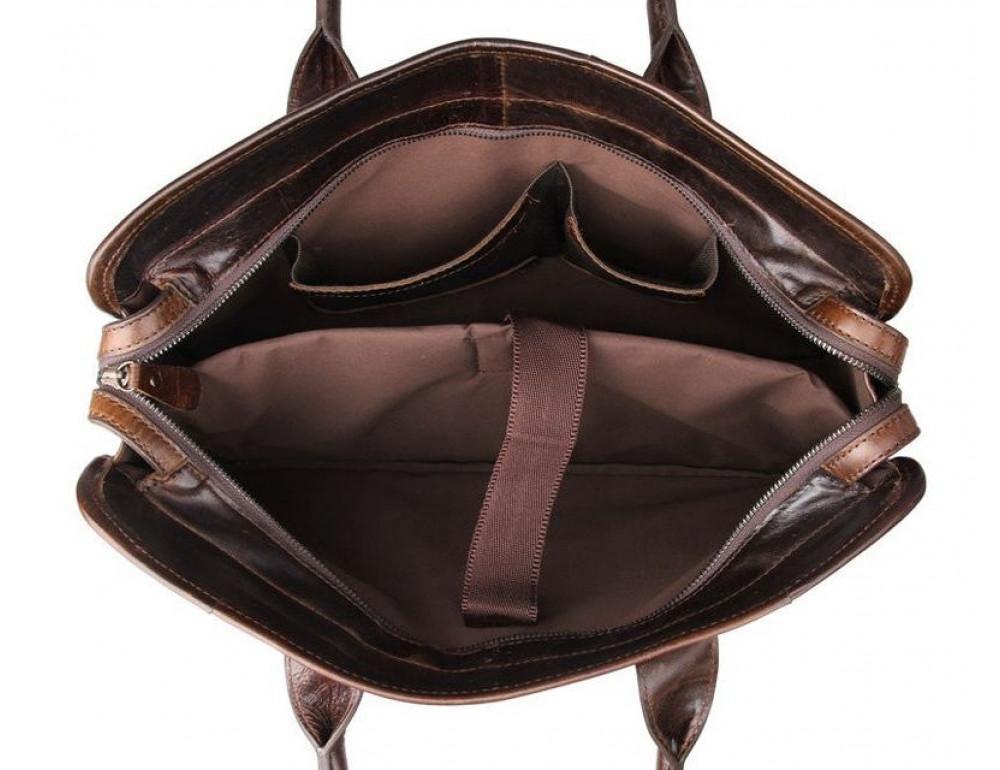 Чоловіча шкіряна сумка JASPER-MAINE 7321C - Фотографія № 2