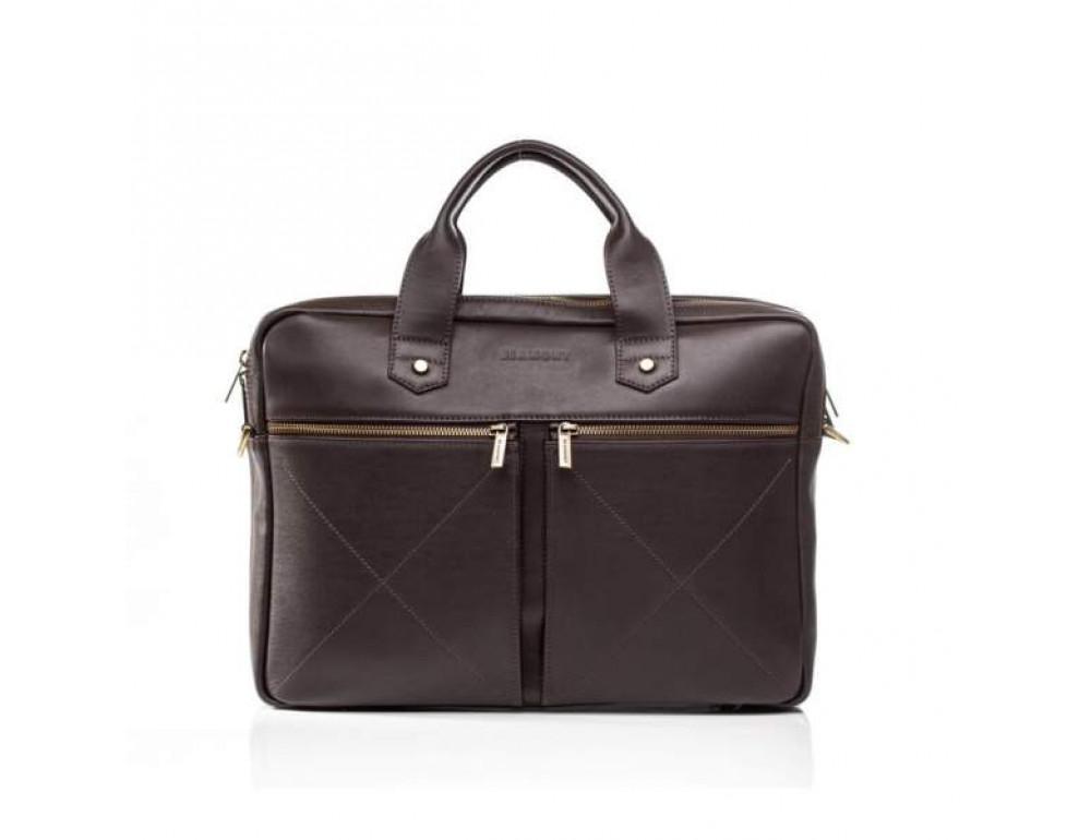 Мужской кожаный портфель Blamont Bn012C - Фото № 4