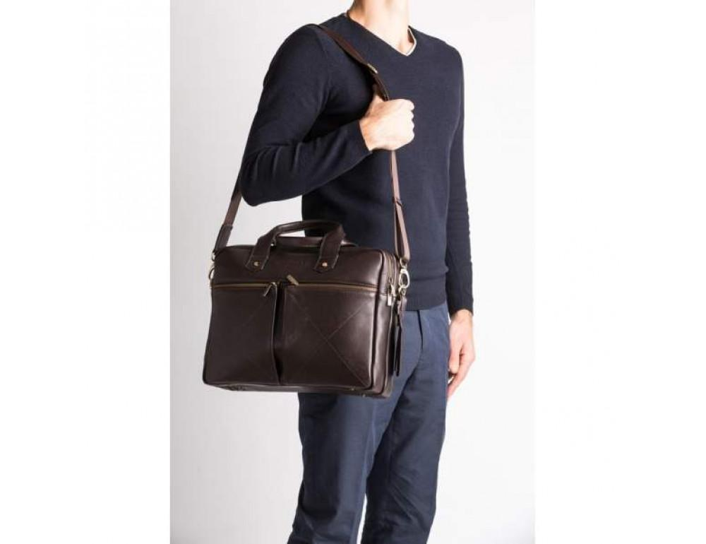Мужской кожаный портфель Blamont Bn012C - Фото № 3