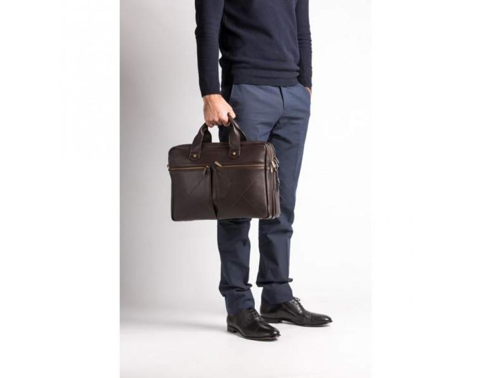 Мужской кожаный портфель Blamont Bn012C - Фото № 2
