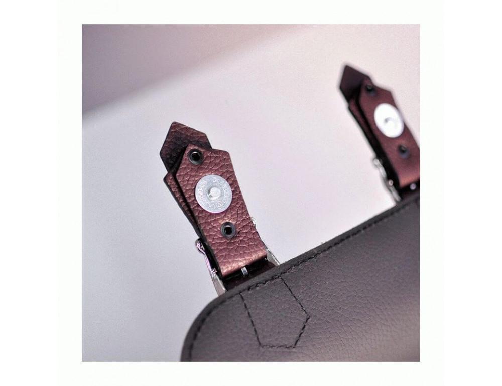 Жіноча шкіряна сумочка JIZUZ SATCHEL MINI S23205GR - Фотографія № 5