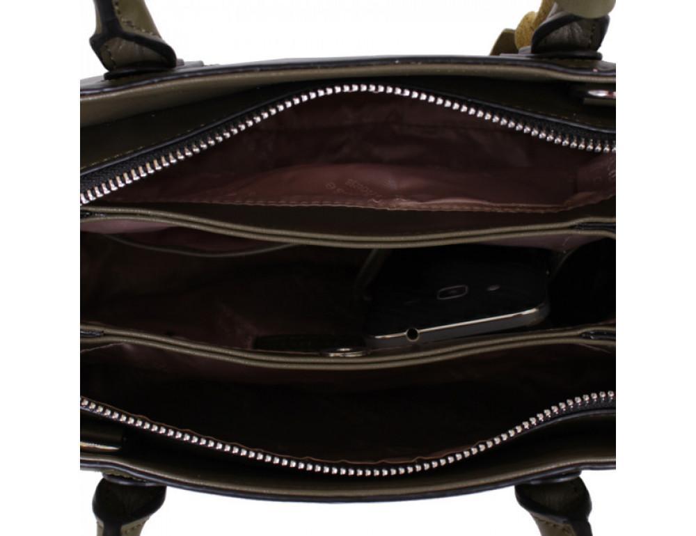 Кожаная сумка de esse L27743GR - Фотографія № 5