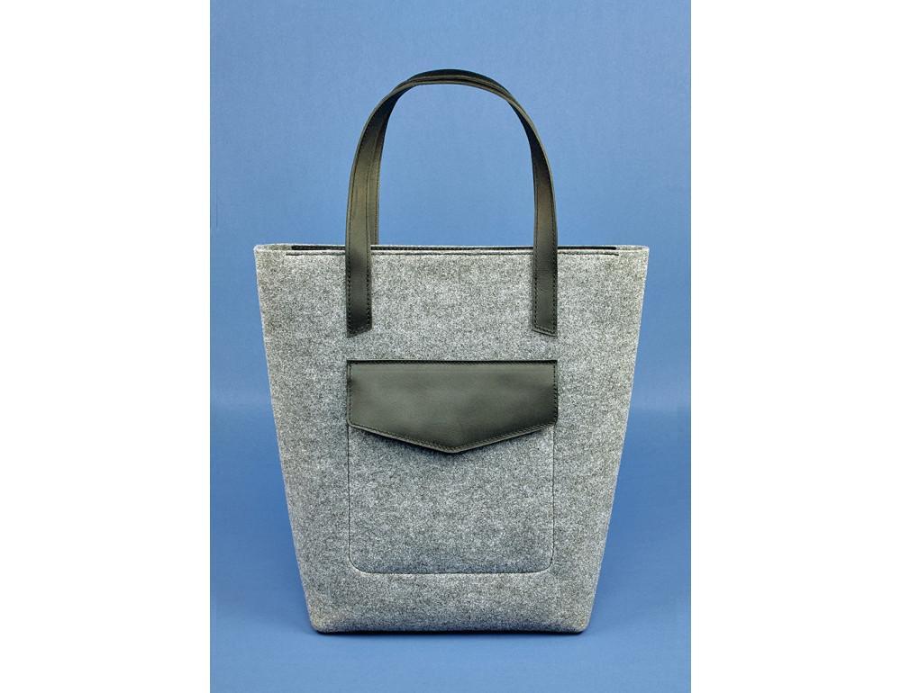 Женская фетровая сумка ШОППЕР Blanknote BN-BAG-17-felt-g