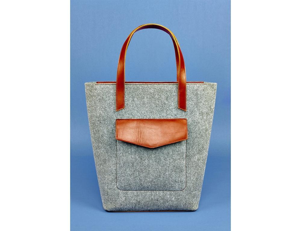 Женская фетровая сумка ШОППЕР Blanknote BN-BAG-17-felt-k - Фото № 1