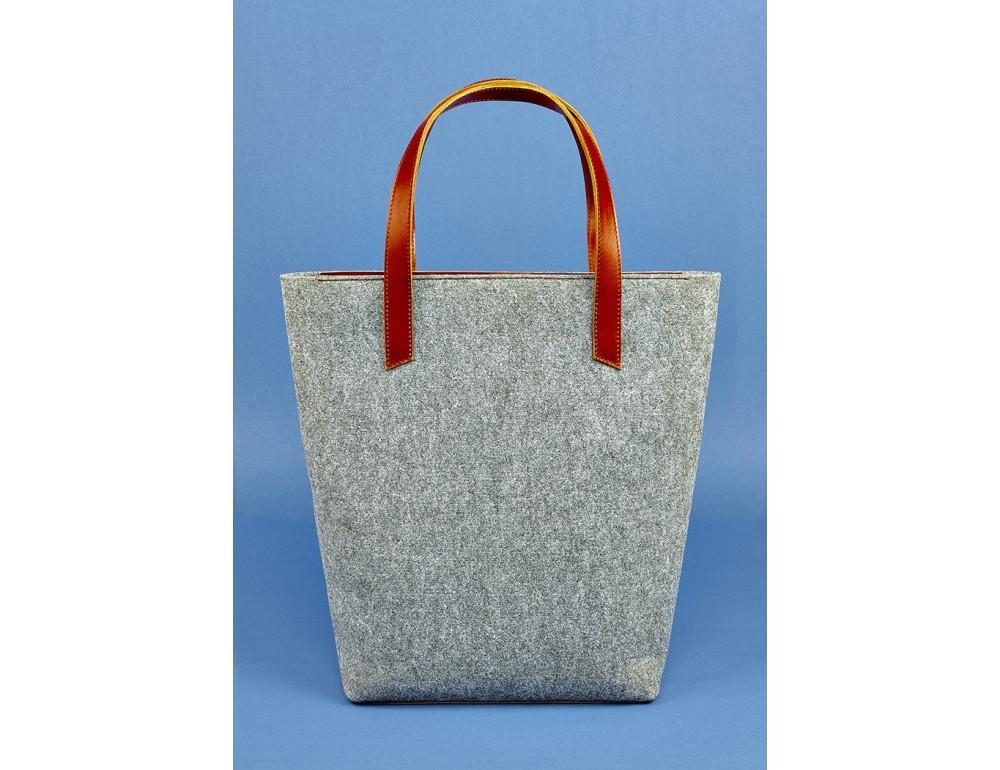 Женская фетровая сумка ШОППЕР Blanknote BN-BAG-17-felt-k - Фото № 3
