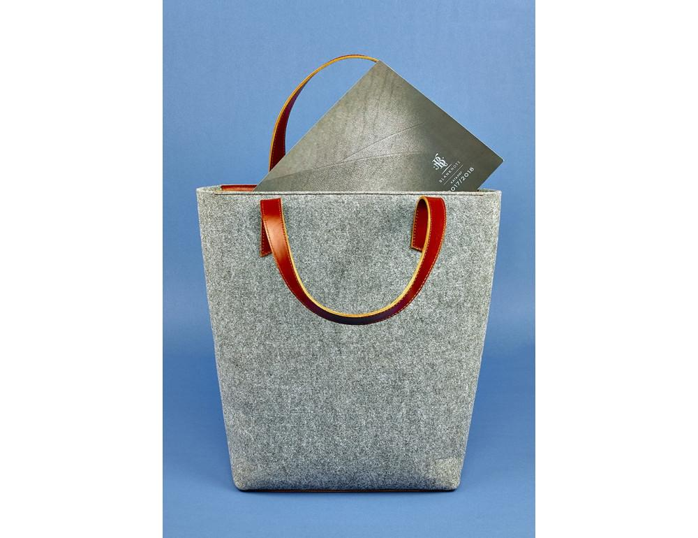 Женская фетровая сумка ШОППЕР Blanknote BN-BAG-17-felt-k - Фото № 4