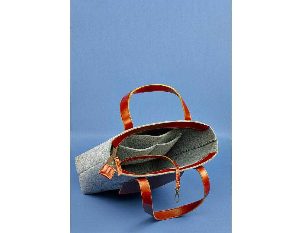Женская фетровая сумка ШОППЕР Blanknote BN-BAG-17-felt-k - Фото № 6