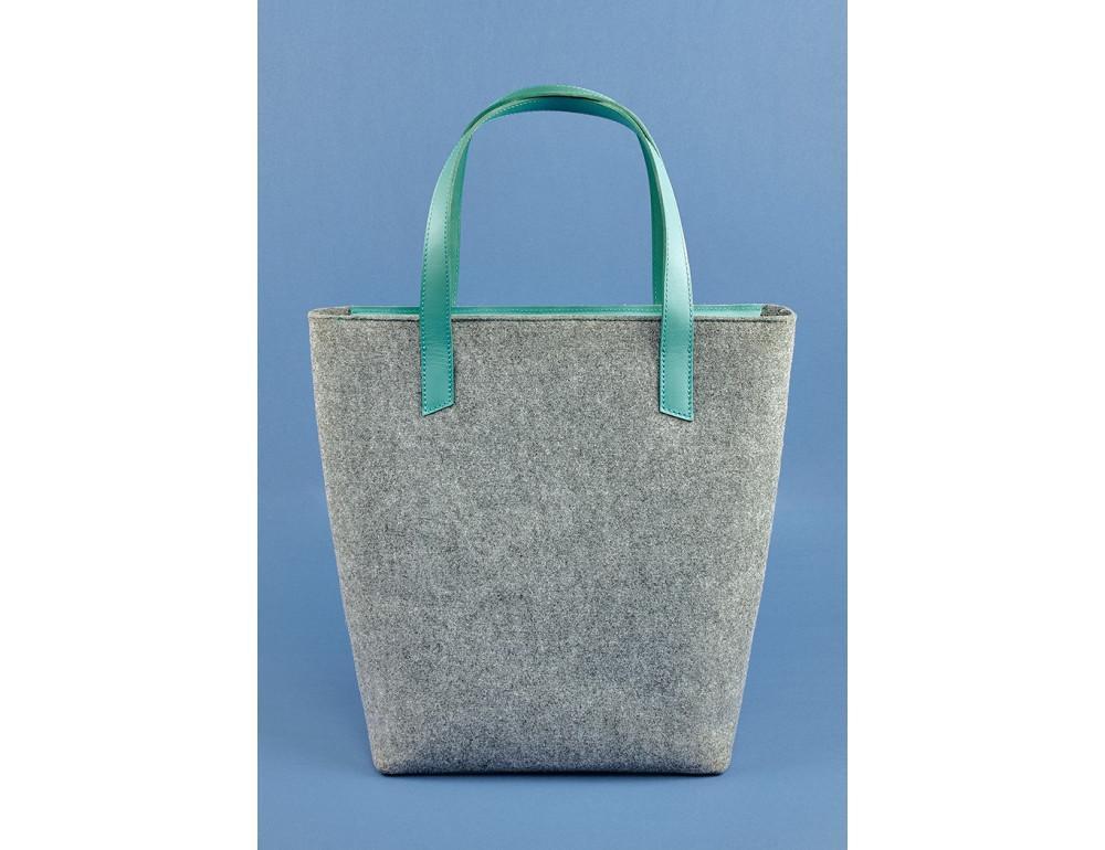 Женская фетровая сумка ШОППЕР Blanknote BN-BAG-17-felt-tiffany - Фото № 3