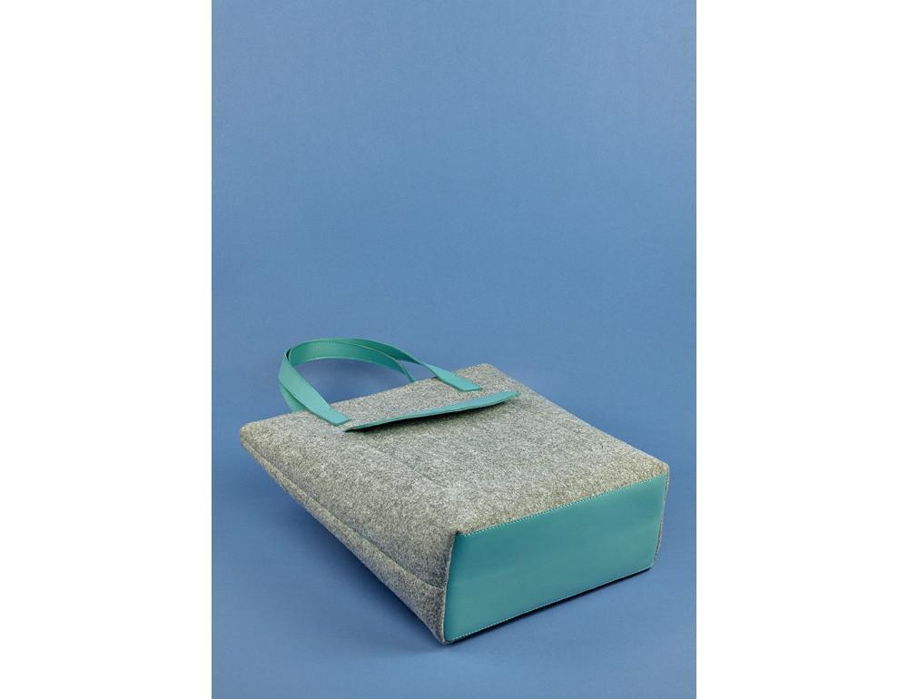 Женская фетровая сумка ШОППЕР Blanknote BN-BAG-17-felt-tiffany - Фото № 5