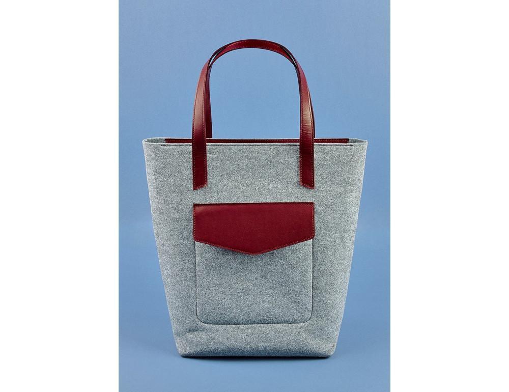 Женская фетровая сумка ШОППЕР Blanknote BN-BAG-17-felt-vin - Фото № 1