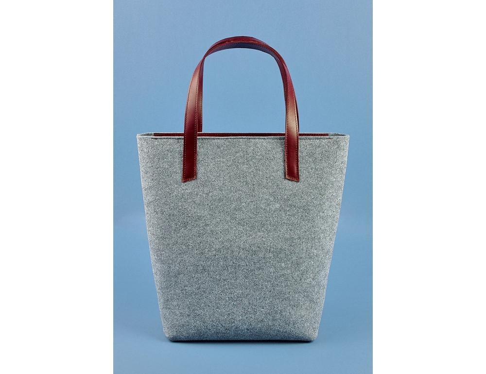 Женская фетровая сумка ШОППЕР Blanknote BN-BAG-17-felt-vin - Фото № 3