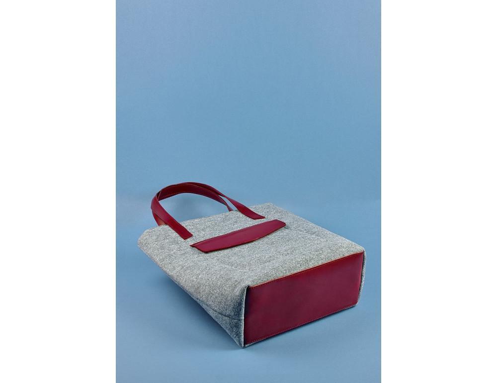 Женская фетровая сумка ШОППЕР Blanknote BN-BAG-17-felt-vin - Фото № 5