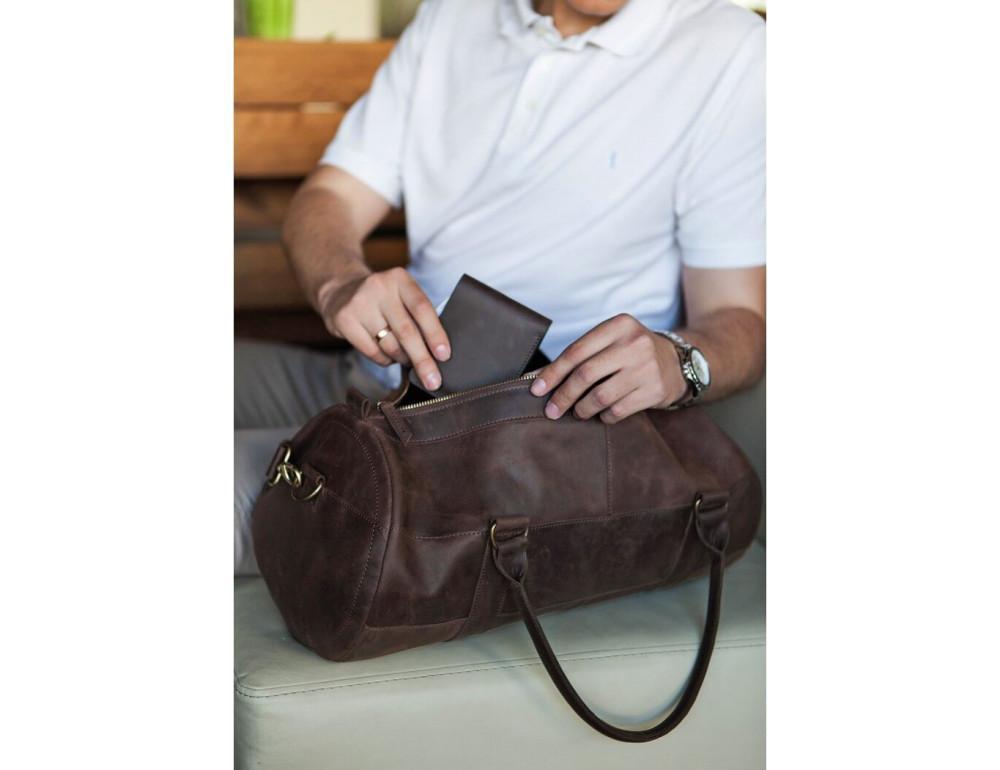 Шкіряна дорожня сумка Blanknote BN-BAG-14-o - Фотографія № 5