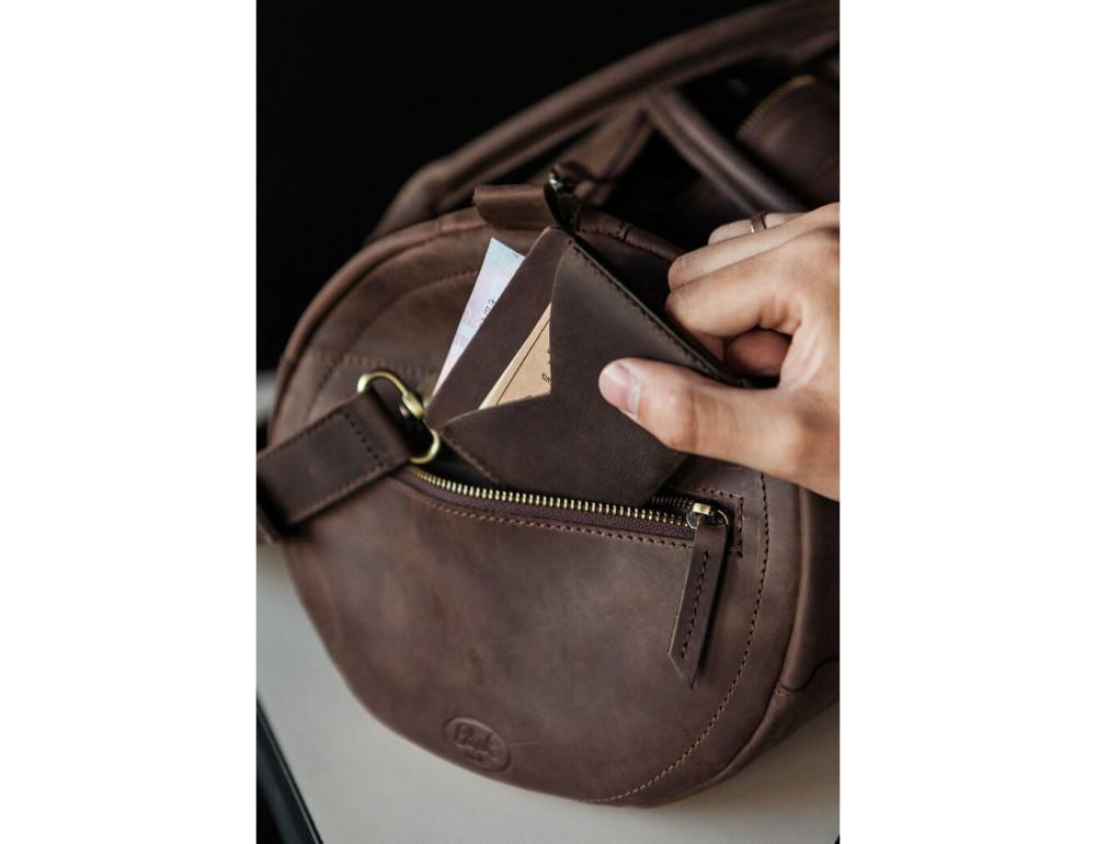 Шкіряна дорожня сумка Blanknote BN-BAG-14-o - Фотографія № 4