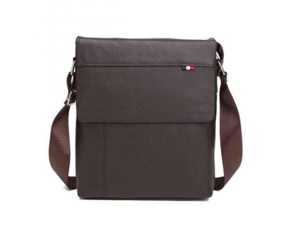 Мужская кожаная сумка-мессенджер TIDING BAG A25-98075С - Фото № 3