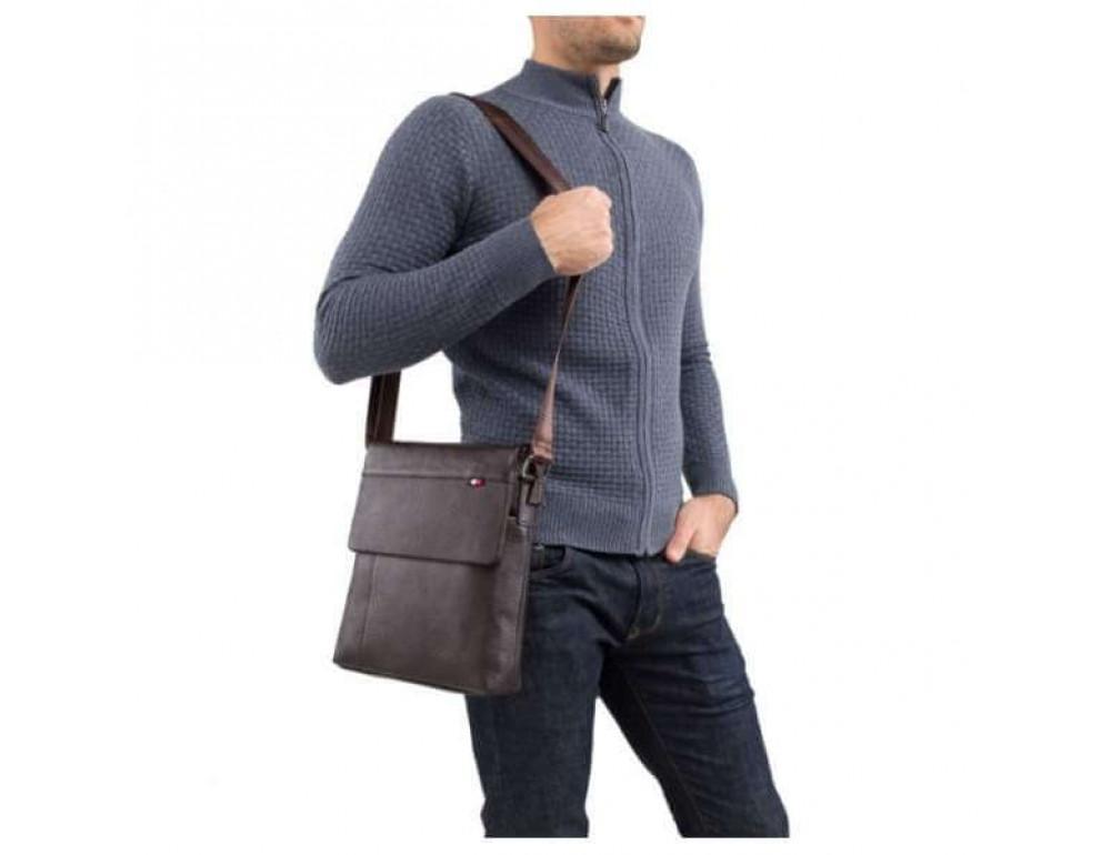 Мужская кожаная сумка-мессенджер TIDING BAG A25-98075С - Фото № 4