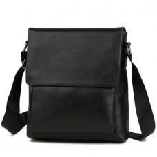 Мужская кожаная сумка через плечо TIDING BAG A25-1278A черная