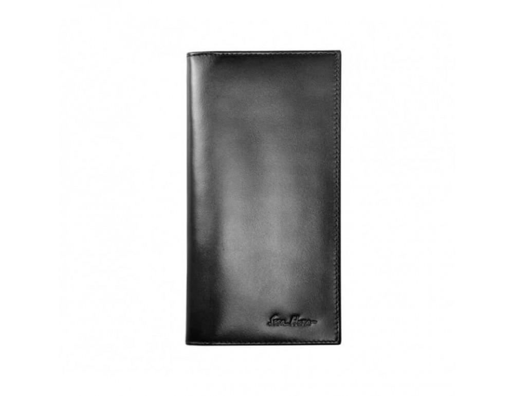 Мужской кожаный портмоне Issa Hara Ukraine black - Фото № 1
