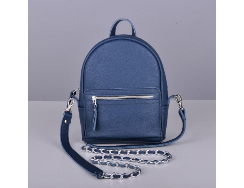 Кожаный рюкзак jizuz Sport Blue - Фото № 4