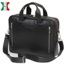 Мужская кожаная сумка Black Diamond BD14A чёрная