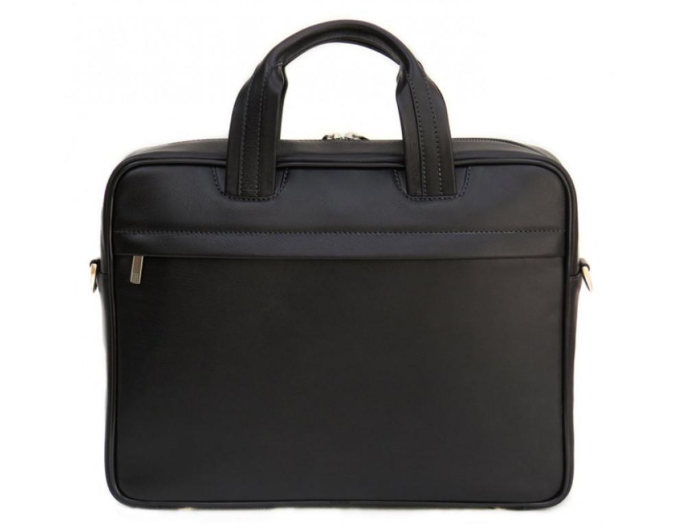 Мужская кожаная сумка Black Diamond BD14A чёрная - Фото № 3